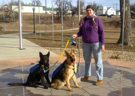 Marna with Tekoa and Texas Tea at the Center of the Nation  2014-02-19  -2