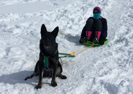 Marna Sledding with Tabaliah 2018-02-28