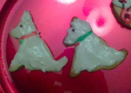 White GSD Christmas Cookies!