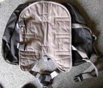 Kyjen Blue Medium Dog Backpack Under Side