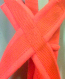 BRIGHT ORANGE Recreational Sled Dog Harness close up