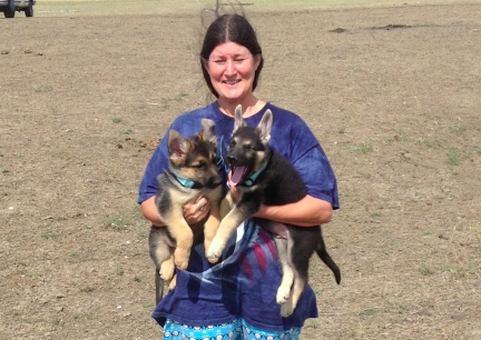 Marna holding Tekoa and Titus 2013-09-13